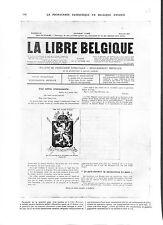WWI Bulletin Propagande Patriotique La Libre Belgique Juillet  B ILLUSTRATION