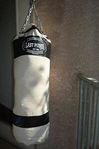 """Boxing, Kickboxing canvas  Punching bag """"Last Punch"""" with Chain"""