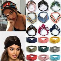 Boho Floral Twist Knot Stirnband Elastic Wrap Turban Haarband Haarband Sport,
