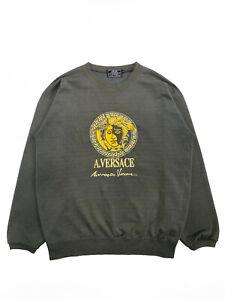 Alfredo A.V. Versace 90s Vintage Medusa Sweatshirt Size M Gray