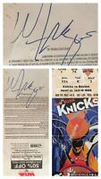 Walt Frazier SIGNED New York Knicks vs. Celtics 1/19/98 Ticket