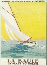 FRENCH VINTAGE POSTER 50x70cm LA BAULE LES PINS THE BEACH THE SEA
