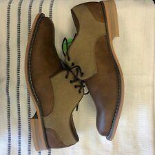 JF J. Ferrar Titus Tan Lace Up Oxford Shoes, Round Toe New Size 9W