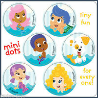 Bubble Guppies Stickers - 48 Dots - 8 Sheets - Birthday Party Supplies - Favours