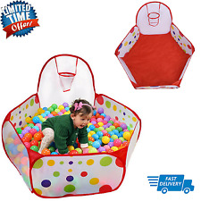 Baby Play Tent  Ball Pit Toddler Toy Stages With BasketBall Hoop and Zippered St