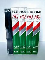 5 Blank FUJI VHS Tapes 4 HQ T-120's & 1 HQ T-160 High Quality NEW Factory Sealed