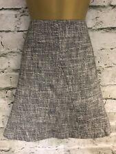 Gorgeous Gerard Darel Black & White Flecked Skirt Size 44 UK 16