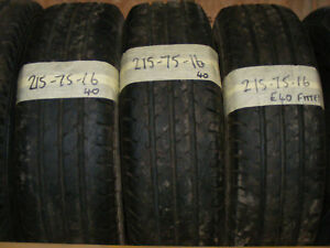 215 75 16C PART WORN VAN TYRES FITTED AND BALANCED