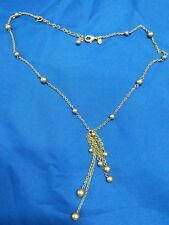 """Monet gold tone 18"""" with 2 1/2"""" dangle estate chain necklace"""