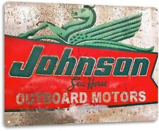 Johnson Outboard Motors Vintage Rustic Retro Tin Metal Sign