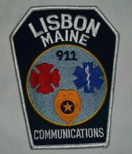 NEW Embroidered Uniform Patch LISBON MAINE COMMUNICATIONS 911 NOS
