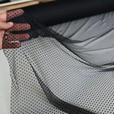 RAUTE schwarz Netz-Stoff mit Stretch feine zarte transparente Meterware 146cm br