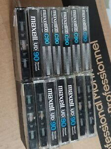 37 MAXELL UDI UD XL I UR LN used blank cassette tapes type I.  Sold as used