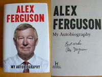 SIR ALEX FERGUSON HAND SIGNED AUTOGRAPH MY AUTOBIOGRAPHY BOOK NEW MAN UNITED COA
