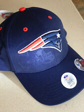 New England Patriots Hat. Brand New. Blue with Stitched Logo. Emboss Look
