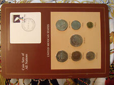 Coin Sets of All Nations Mexico with card all 1985 20 pesos 1984 UNC