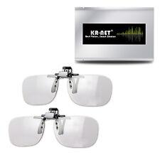 KR-NET 2x Polarized Passive RealD Clip On 3D Glasses Clip for TV Cinema Movie