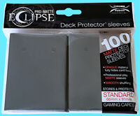 100 ULTRA PRO ECLIPSE SMOKE GREY STANDARD PRO-MATTE DECK PROTECTOR Card Sleeves