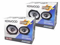 """(2) Pairs KENWOOD KFC-C6865S 6x8 6"""" x 8"""" 500 Watt 4-Ohm 2-Way Car Audio Speakers"""