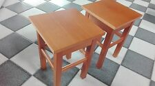 Stool Seating Furniture Wood Teil-Massiv Real Chair Seat Wooden New