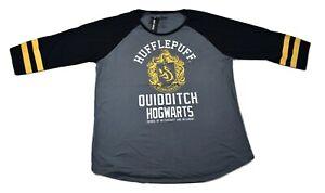 Harry Potter Juniors Hufflepuff Quidditch Hogwarts Shirt New 3XL