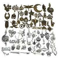 Lot of (x20) Vintage Mixed Bronze and Silver Alloy Pendants Jewelry Craft 5-65mm
