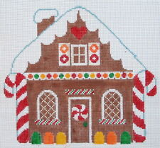 Gingerbread House Hand Painted Needlepoint Canvas