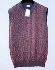 GSUS Spencer KNIT Vest SWEATER Pullover SLEEVELESS Shirt POLKA Brown Orange DOTS