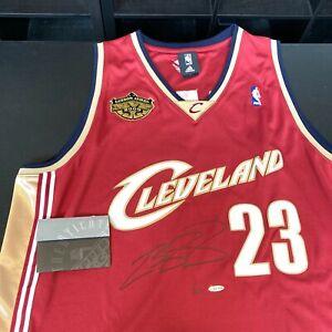Lebron James Signed 2008 MVP Cleveland Cavaliers Stat Jersey UDA Upper Deck COA