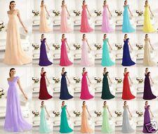 New Elegant One shoulder Bridesmaid Dress Formal Evening Dress Size UK 6 -16