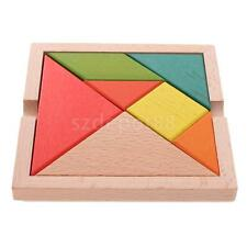 Chinese Classic Intelligence Toy Brain Teaser Game Kid Wooden Tangram Puzzle