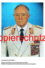 A35 Armeegeneral Erich Mielke MfS Staatssicherheit DDR Minister NEU, Foto 20x30
