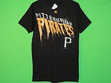 NWT Pittsburgh Pirates Men's Size M Medium Majestic Black MLB T Shirt NEW