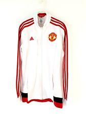 Manchester United Jacket. Small Adults. Adidas. White Man Utd Football Coat.