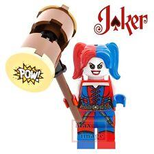 1pc Harley Quinn Hammer Custom Minifigure fits LegoBuilding ToyDC Joker #255