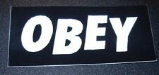 SHEPARD FAIREY Obey Giant Sticker 1.5X0.75 ICONIC BLACK BANNER like poster print