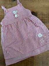 Baby Girl 12-18 months Mothercare Humphreys Corner Red Checked Pinafore Dress