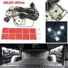 Universal 8Pcs Super White LED Truck Bed Light Kit For Pickup Truck RV Trailer