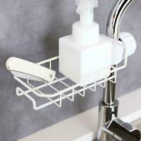 Kitchen Sink Faucet Sponge Soap Cloth Drain Rack Storage Durable Shelf Z4R7 C0D8