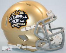 NOTRE DAME IRISH (2016 Shamrock Series San Antonio) Riddell Speed Mini Helmet