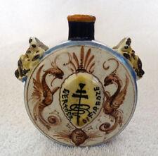 Antique Italian 'Certosa Di Firenze' Scent Bottle / Moon Flask