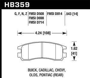 Disc Brake Pad Set-LS Rear Hawk Perf HB359Z.543