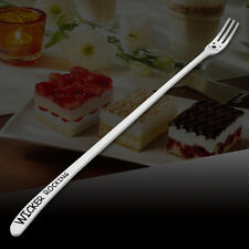 Long Handle  Dessert Fruit Forks Korean Cartoon Smile Face Tableware FlatwareHU