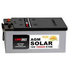 Langzeit AGM Solarbatterie 150AH Akku Boot Wohnmobil Versorgungs Vlies Batterie