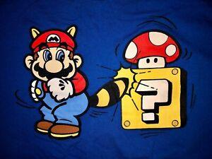 SUPER MARIO 3 Raccoon Mario Mushroom Short-Sleeve T-Shirt Adult XL Nintendo