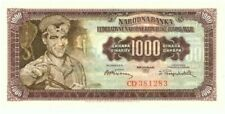 1955 Yugoslavia 1000 Dinars Without Plate Number Unc Currency Note! WC08