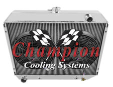 "3 Row Perf Radiator W/ 2 12"" Fans for 1968 - 1973 Dodge Coronet Big Block Eng"