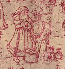 240 Sheets - Burgundy Toile Christmas Tissue Paper # 735 - Bulk Pricing*