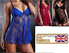 Unbranded Cotton Blend Babydoll Sexy Nightwear for Women