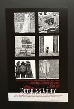 Edward Gorey *Poster advertising Detailing Gorey* + related ephemera - RARE